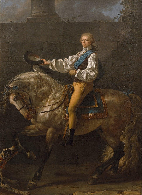 Jacques-Louis David - Equestrian portrait of Stanisław Kostka Potocki - Google Art Project