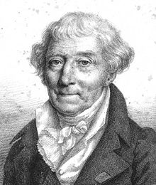 Lithograph of French naval engineer and shipwright Jacques-Nöel Sané by Julien Léopold Boilly.