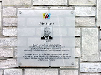 Alfred Jahn - Commemorative plaque for Alfred Jahn in Wrocław.