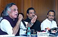 Jairam Ramesh and addressing a Press Conference on Environment clearance for the Jaitapur Nuclear Power Project, Rajapur(Distt. Ratnagiri), in Mumbai on November 28, 2010.jpg