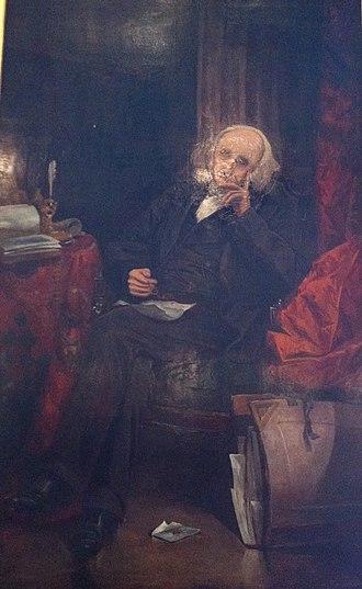 James William Johnston - Portrait of Johnston by Henry Sandham