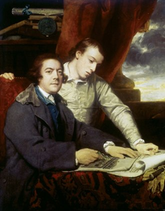 James Paine (architect) - James Paine father and son, portrait by Joshua Reynolds