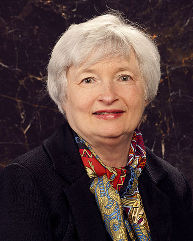 Photograph of Janet Yellen, Chair of the Board of Governors of the Federal Reserve System