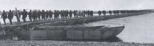 Battle of Yalu River (1904) - Japanese Troops crossing the Yalu River