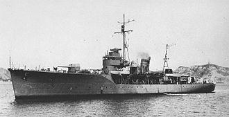 Japanese escort ship Matsuwa - Image: Japanese escort ship Matsuwa 1943