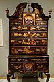 Japanned high chest, signed in chalk 'Pim', case by John Pimm, Boston, Massachusetts, 1740-1750, soft maple, black walnut, white pine, mahogany, paint, gesso, original brass, view 2 - Winterthur Museum - DSC01401.JPG