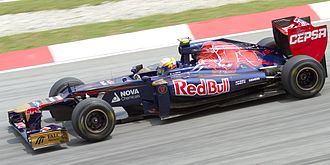 Jean-Éric Vergne - Vergne driving for Toro Rosso at the 2012 Malaysian Grand Prix.