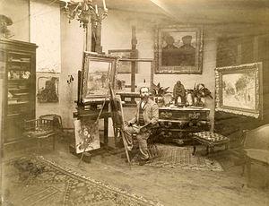 Jean-François Raffaëlli - Jean-François Raffaëlli in his Paris studio.