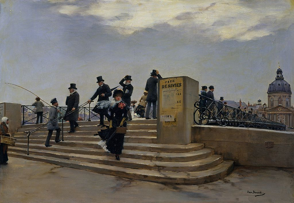 """A Windy Day on the Pont des Arts"" by Jean Béraud"