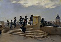 Jean Béraud A Windy Day on the Pont des Arts.jpg