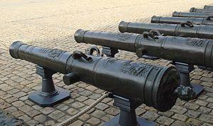 Florent-Jean de Vallière - De Vallière 24-pdr guns, Les Invalides.