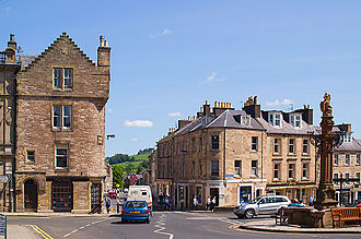 Jedburgh - Mercat Cross from Castlegate