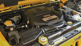 Jeep Wrangler Unlimited Sport engine.jpg