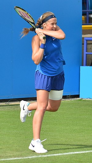 Jeļena Ostapenko - Ostapenko at the 2016 Eastbourne International