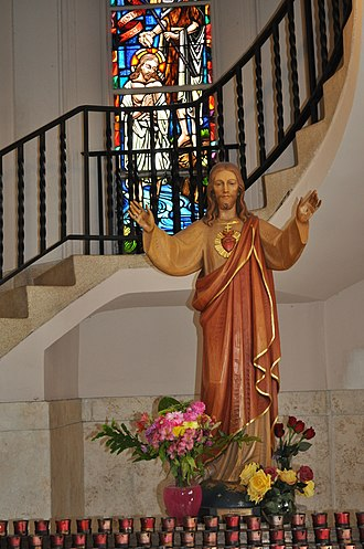 Church of the Little Flower (Coral Gables, Florida) - Image: Jesus statue in Church of the Little Flower