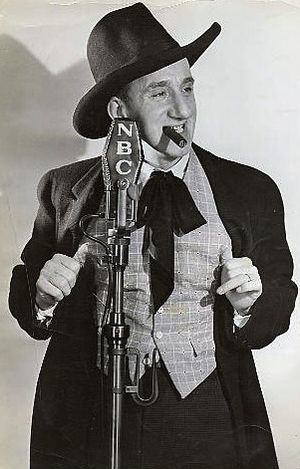 Jimmy Durante - Durante on The Jumbo Fire Chief Program, 1935.