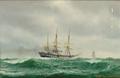 Johan Neumann - Fregatten Sjælland i Nordsøen.png