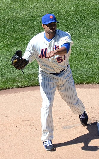 Johan Santana - Santana in his return to the Mets