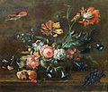 Johann Matthias Wurzer - Blumenkorb mit Vögeln und Schmetterling.jpg