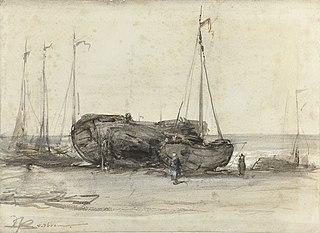 Vissersboten op het strand van Scheveningen