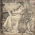 Johannes Josephus Aarts - studie van jonge vrouw in interieur.jpg