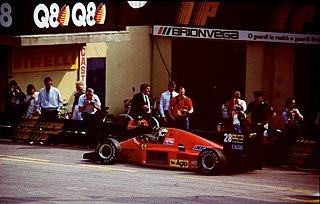 Ferrari F1/86 racing car