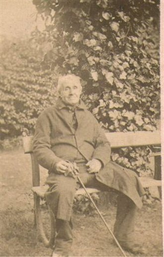 John Badley (surgeon) - Photograph of John Badley, Surgeon of Dudley taken ca. 1865 unawares by the grandson of a patient