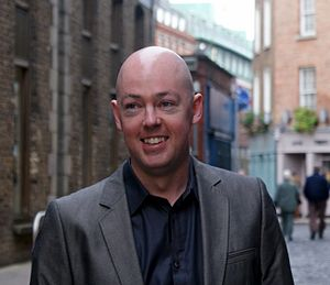 English: Photograph of author John Boyne taken...