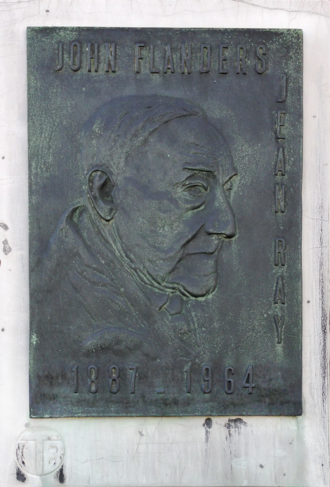 Jean Ray (author) - Memorial plaque in Ghent