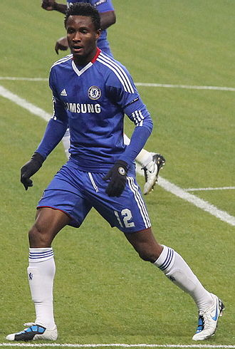 John Obi Mikel - Mikel playing for Chelsea against Spartak Moscow