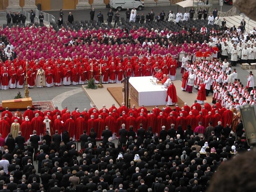John Paul II funeral long shot