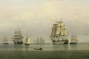 John Ward of Hull - Warships on a calm sea.jpg