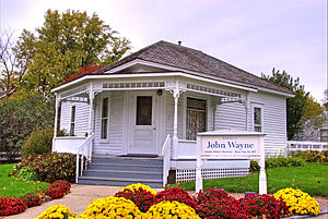 John Wayne - The house in Winterset, Iowa, where Wayne was born in 1907