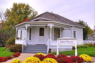 John Wayne - The house in Winterset, Iowa, where Wayne was born in 1907