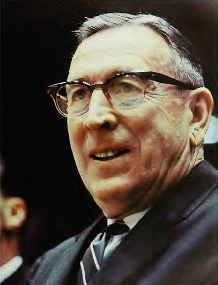 John Wooden coached UCLA to 10 national championships John Wooden.JPG