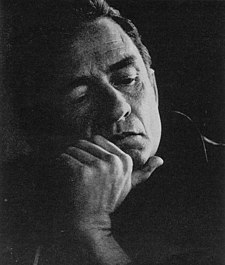 O cantaire estatounitense Johnny Cash en 1969.