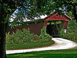 Johnson Road Covered Bridge, a township landmark