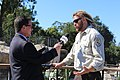 Joseph Brandt, supervisory wildlife biologist with U.S. Fish and Wildlife Service, talks about the launch of Condor Country with KCLU News Director Lance Orozco (29937950644).jpg