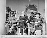 Joseph Stalin, Franklin D Roosevelt and Winston Churchill, in Teheran, 1943, edit.jpg