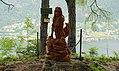 Jungfernsprung, Holzstatue auf der Burg Landskron, Villach, Kärnten.jpg