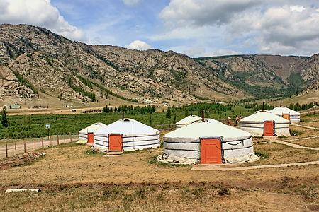 Yurts. Gorkhi-Terelj National Park. Mongolia.