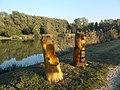 Két kismedve szobor (Nagy Miklós), 2018 Dombóvár.jpg