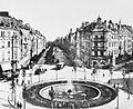 Köln - Pferdebahn am Barbarossaplatz, um 1890.jpg