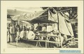 KITLV - 37409 - Demmeni, J. - Tulp, De - Haarlem - Food stall at the bazaar at Payakumbuh, Sumatra - 1911.tif