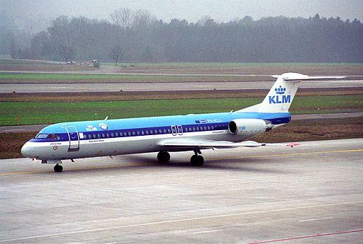 KLM Cityhopper Fokker 100; PH-KLG@ZRH;26.01.1996 (5216855501)