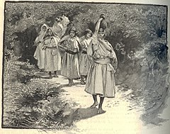 Kabyle women, 1886.