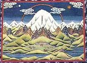 Mount Kailash - Tibetan and Nepalese Thangka depicting Mount Kailash