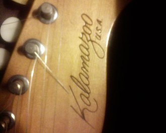 Gibson Kalamazoo - Logo, located on the headstock.