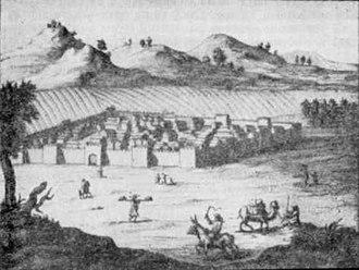 Zhangjiakou - View of Zhangjiakou (Kalgan) in 1698.
