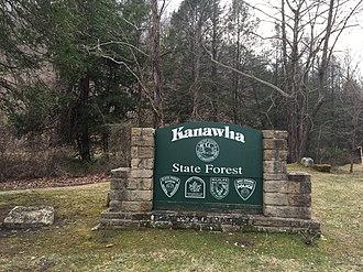 Kanawha State Forest - Kanawha State Forest sign